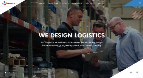 CJ Logistics America's new website, cjlogisticsamerica.com, reflects the combined talent and capabilities of DSC Logistics and CJ Logistics. (Graphic: Business Wire)