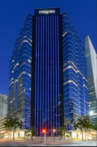 1221 Brickell Avenue with Insigneo New Logo Render (Photo: Business Wire)