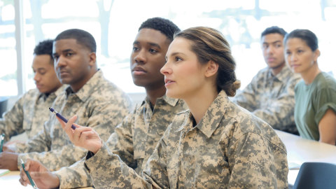 Military specialist attends advanced SATCOM training. (Photo: Business Wire)
