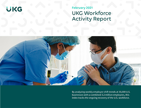 The UKG Workforce Activity Report is tracking the COVID-19 economic recovery monthly with high frequency data.