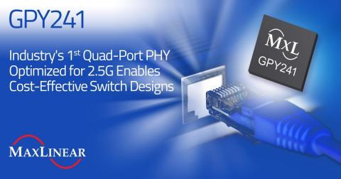 MaxLinear Introduces the Industry's 1st Quad-Port PHY Optimized for 2.5G (Graphic: Business Wire)