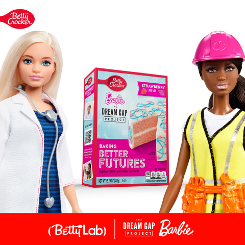 Betty Crocker ™ Partners with Barbie™ Dream Gap Project to Empower Girls to Realize Their Limitless Potential ~ In Celebration of International Women's Day, Betty Crocker Unveils the BettyLab to Inspire Connection, Experimentation and Innovation (Photo: Business Wire)