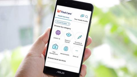 Walgreens Find Care® digital health platform (Photo: Business Wire)