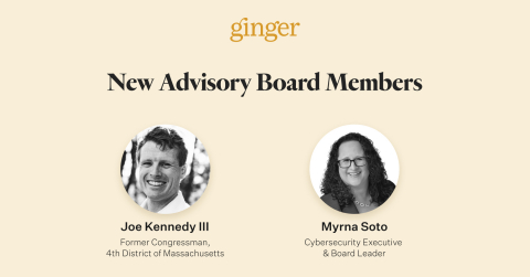 Ginger Appoints Former U.S. Representative Joe Kennedy III and Seasoned Cybersecurity Executive Myrna Soto to Advisory Board (Graphic: Business Wire)