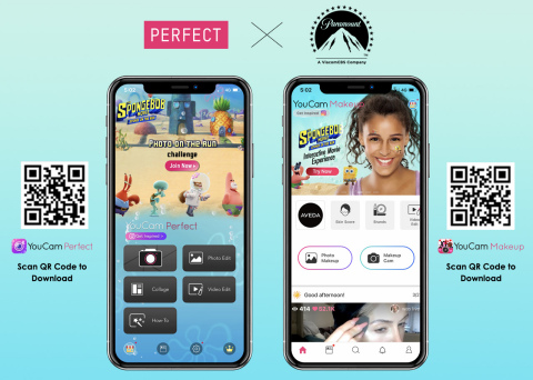 Perfect Corp. launches interactive SpongeBob SquarePants movie experience in YouCam Apps (Graphic: Business Wire)