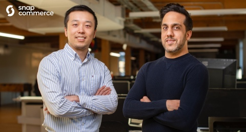 Snapcommerce, Message-Driven Mobile Commerce Platform, Raises $85M USD in Funding Led by Inovia Capital and Lion Capital. Pictured: Snapcommerce co-founders Henry Shi (L) and Hussein Fazal (R). (Photo: Snapcommerce)