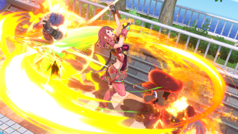 Later today, Pyra/Mythra from the Xenoblade Chronicles 2 game will officially join the roster of Super Smash Bros. Ultimate for the Nintendo Switch system. (Photo: Business Wire)