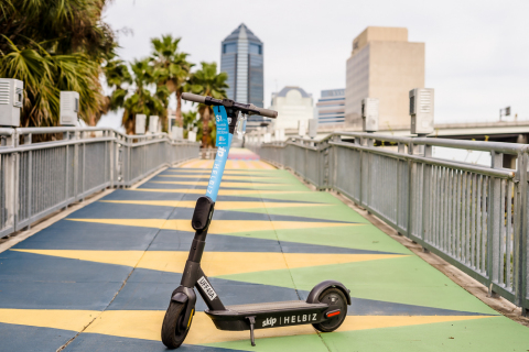 Micro-Mobility Leader, Helbiz, Launches 250 E-Scooters in Jacksonville, Florida (Photo: Business Wire)