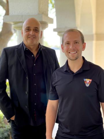 Kerem Koca, Blue.cloud co-founder/co-CEO, and Brian Alvarez, EVP, Corporate Development (Photo: Business Wire)