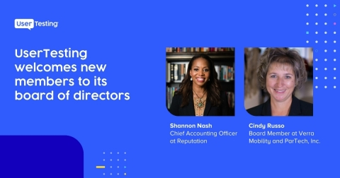 UserTesting Welcomes Two New Members to Its Board of Directors (Graphic: Business Wire)