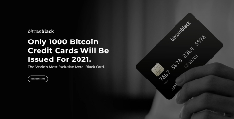 Only 1000 BitcoinBlack Credit Cards will be issued in 2021 for Canadians. (Photo: Business Wire)