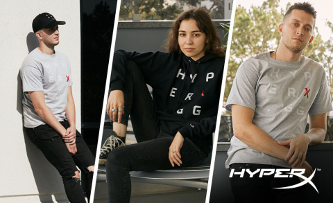 HyperX Kicks Off Initial GG Apparel Collection with Champion® Athleticwear (Photo: Business Wire)