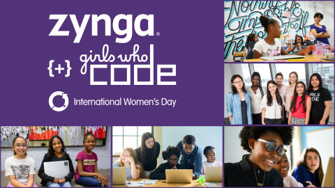 Zynga Teams up with Girls Who Code to Help Raise Awareness and Support for Women in Tech (Graphic: Business Wire)