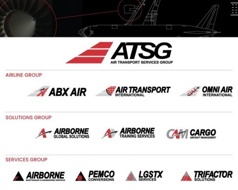Air Transport Services Group has launched a brand realignment unifying the company's spectrum of aviation businesses. The visual designs reflect the ability of the ATSG team to deliver on their brand promise with resilience, flexibility, and integrity. The slant of the letters represents the action and energy inherent in the company's mindset, while the color palette of red, black, gray, and white is bold and tenacious like the solutions-focused approach that allows customers' opportunities to take flight. (Graphic: Business Wire)