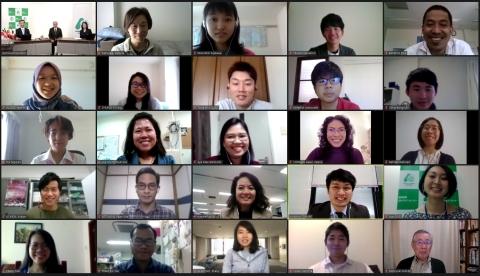 The students completed the process of making the declaration online due to COVID-19. (Photo: Business Wire)