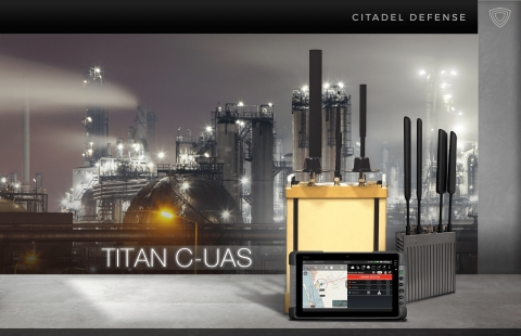 Citadel Defense's Titan system can be a tele-operated teammate for troops, law enforcement, and security agents that detects, engages, and neutralizes drone threats in order to blind a bad actor and deny them any advantage or safe haven. (Graphic: Business Wire)