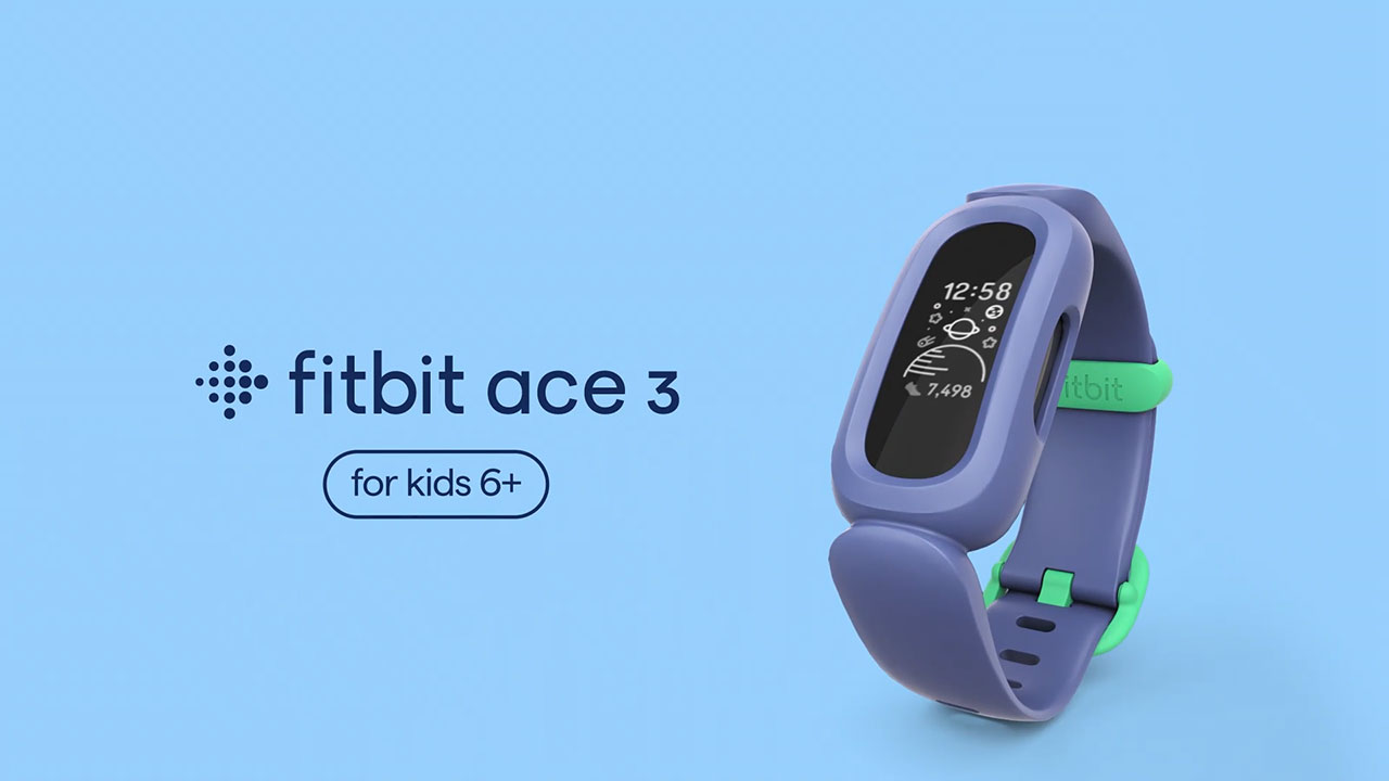 Fitbit Ace 3, the next generation activity & sleep tracker for kids ages 6+ with over a week of battery life.