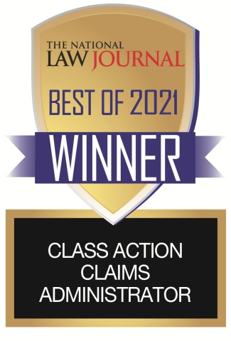 National Law Journal 'Best of 2021' Class Action Claims Administrator: JND Legal Administration (Graphic: Business Wire)