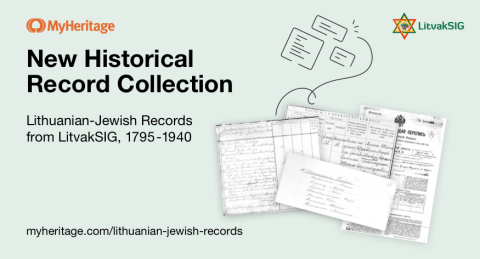 MyHeritage Adds Lithuanian-Jewish Historical Records in Coordination with LitvakSIG (Graphic: Business Wire)