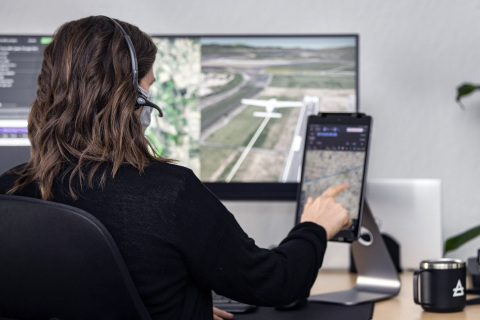 Chief Pilot Elissa Zavora at the Reliable Robotics control center (Photo: Business Wire)