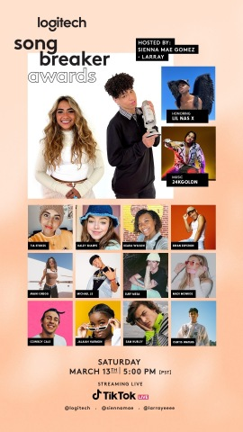 Logitech celebrates creators with first-ever Song Breaker Awards. (Graphic: Business Wire)