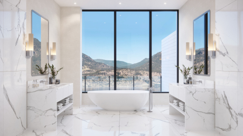 Rendering of ONE Water Street Penthouse Master Bathroom (Photo: Business Wire)