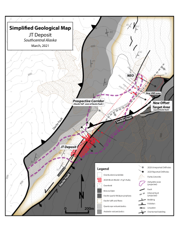 Figure 1. Johnson Tract Project – 2020 Drill Hole Plan Map with Johnson Tract Deposit and Northeast Offset Target (Photo: Business Wire)