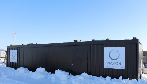 Proton Technologies Black Box at site near Kerrobert, Saskatchewan. (Photo: Business Wire)