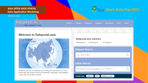 Screenshot from the Asia Open Data Portal launch and data application workshop, organized by Asia Open Data Partnership (AODP) at Open Data Day 2021. (Photo: Business Wire)