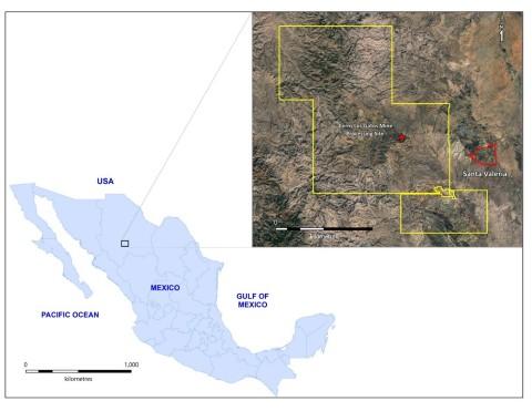 Santa Valeria Location Map (Graphic: Business Wire)