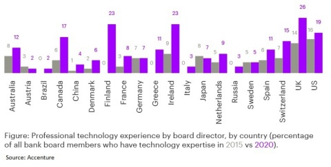 Professional technology experience by board director
