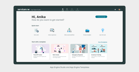 App Engine Studio and App Engine Templates (Graphic: Business Wire)