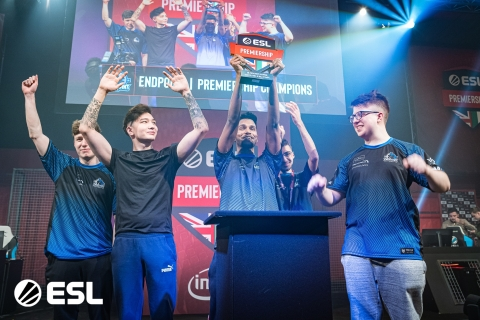 Team End Point, an organization striving to strengthen the UK's position in the global scene, has won the ESL Premiership six times straight. The team also stands as the most decorated UK CS:GO organizations ever. The attached photo shows their most recent ESL Premiership win. (Photo: ESL)
