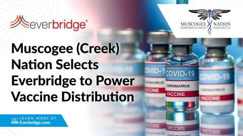 Muscogee Nation Health System Selects Everbridge to Power its Vaccine Distribution Efforts (Photo: Business Wire)