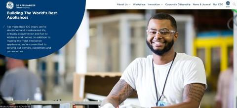 GE Appliances Corporate Website Homepage (Photo: GE Appliances, a Haier company)