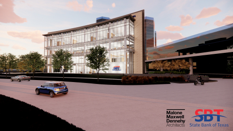 State Bank of Texas, rendering of 48,000 sq ft headquarters to be built in Las Colinas Urban Center, Irving, TX (Photo: Business Wire)