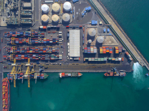 Gulftainer's Sharjah Container Terminal at Port Khalid, United Arab Emirates. (Photo: Business Wire)