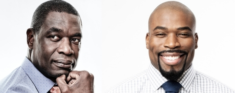 Ask The Doctor co-founders Dikembe Mutombo and Israel Idonije. (Photo: Business Wire)