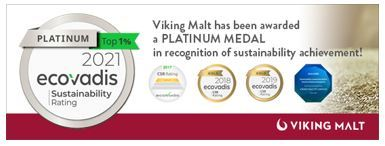 Viking Malt, one of the world's leading suppliers of high quality malt products received Platinum Medal in the latest EcoVadis Corporate Social Responsibility (CSR) rating. (Graphic: Business Wire)