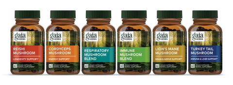 Gaia Herbs New Mushroom Capsules (Photo: Business Wire)