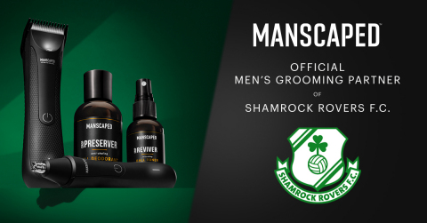 MANSCAPED's first Irish sports partnership has been announced, just in time for St. Patrick's Day. The global grooming company is proud to welcome Shamrock Rovers as its newest partner. (Graphic: Business Wire)