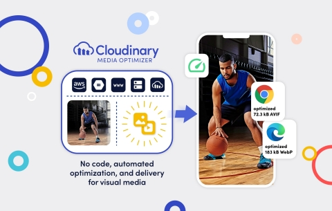 Cloudinary Media Optimizer for automated, optimal visual media delivery (Graphic: Cloudinary)