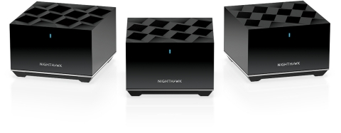 Providing powerful mesh WiFi 6, the NETGEAR Nighthawk Tri-band Mesh WiFi 6 System (MK83) is designed to blanket the whole home with high-performance WiFi to manage more devices on the network and eliminate dead zones in every room of the house. (Photo: Business Wire)
