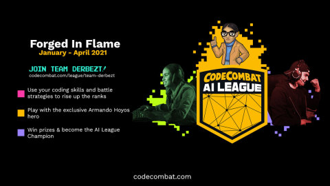 Players can join Eugenio Derbez's competitive coding team to win prizes, show off their coding skills, and reach the top of the leaderboard to become AI League Champion. (Graphic: Business Wire)