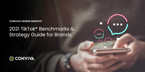Conviva Viewer Insights - 2021 TikTok Benchmarks & Strategy Guide for Brands (Graphic: Business Wire)