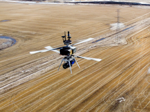 FulcrumAir's E2500 flying with LiDAR (Photo: Business Wire)