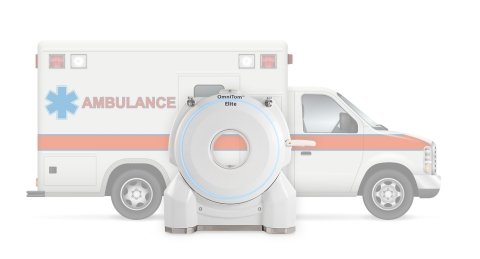 NeuroLogica introduces the SmartMSU™ with OmniTom® Elite CT Scanner, the next-generation mobile stoke unit for imaging on an ambulance (Photo: Business Wire)
