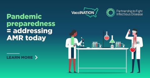 By making Thursday, March 18 a day of action to raise awareness of the need to #SquashSuperbugs we can all do our part to prepare for and perhaps even prevent a future pandemic due to antibiotic resistance. www.fightinfectiousdisease.org (Graphic: Business Wire)