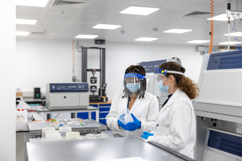 Polymateria scientists checking materials at the company's labs in Imperial College, London (Photo: Business Wire)