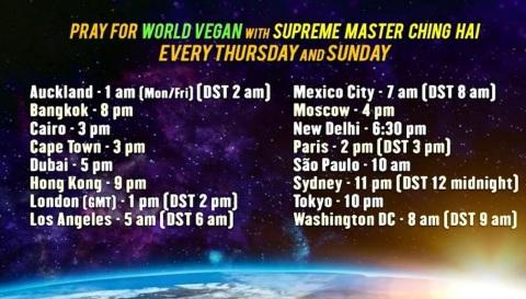 World Vegan Prayer Times (Graphic: Business Wire)
